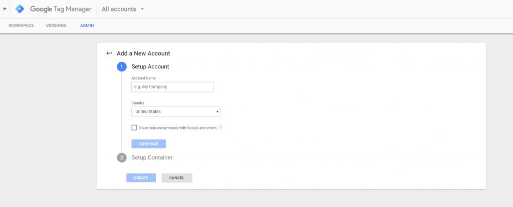 Google Tag Manager Snapshot