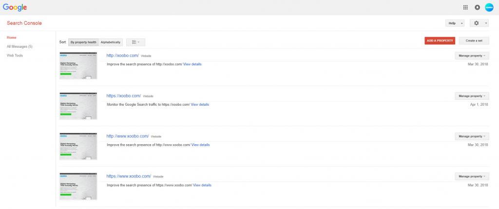 Google Webmaster Tools Snapshot