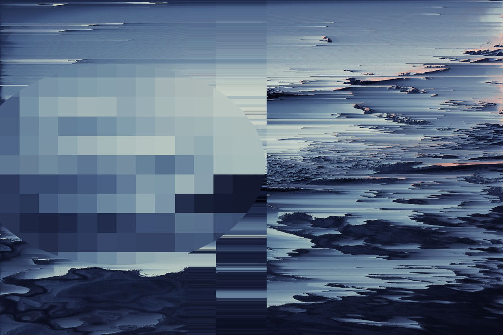 glitch art and background videos