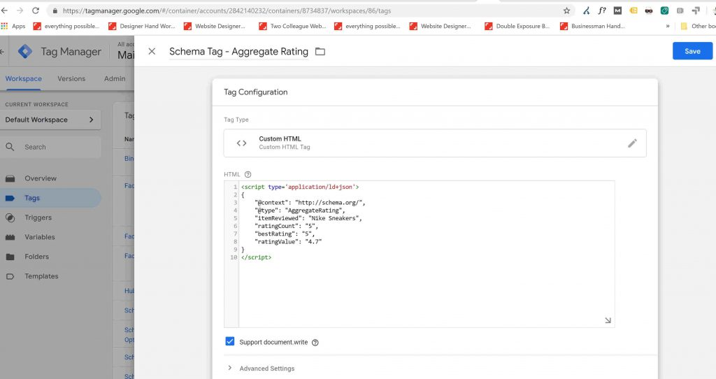 Google Tag Manager with a bit of custom HTML code.