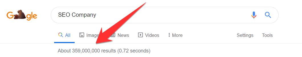 SEO Company Google Results