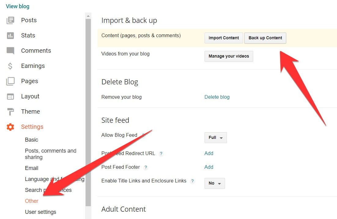 Blogger Backup