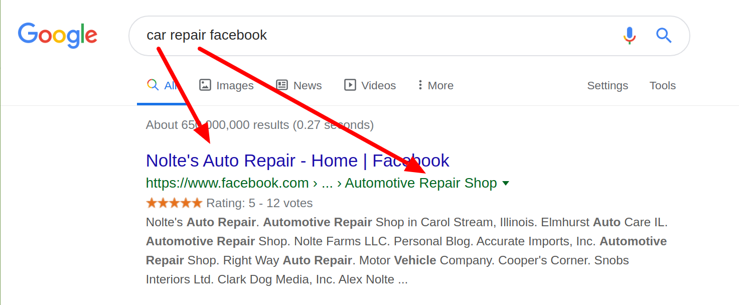 Car Repair Facebook