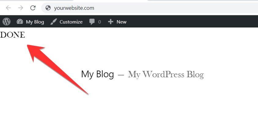 Done on WordPress