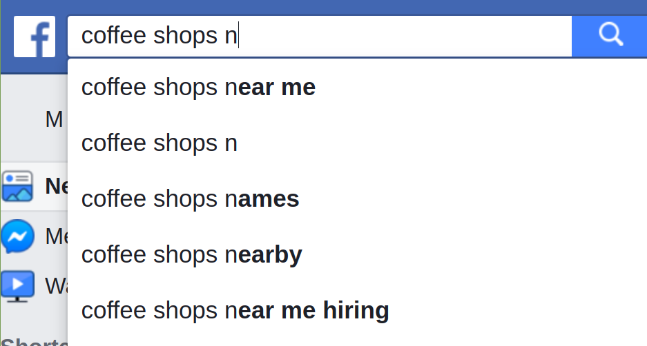 Local Keywords in Facebook