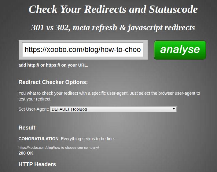 Redirection Checker