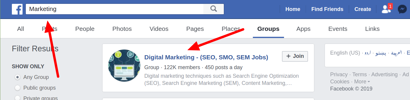 SEO for Facebook Group