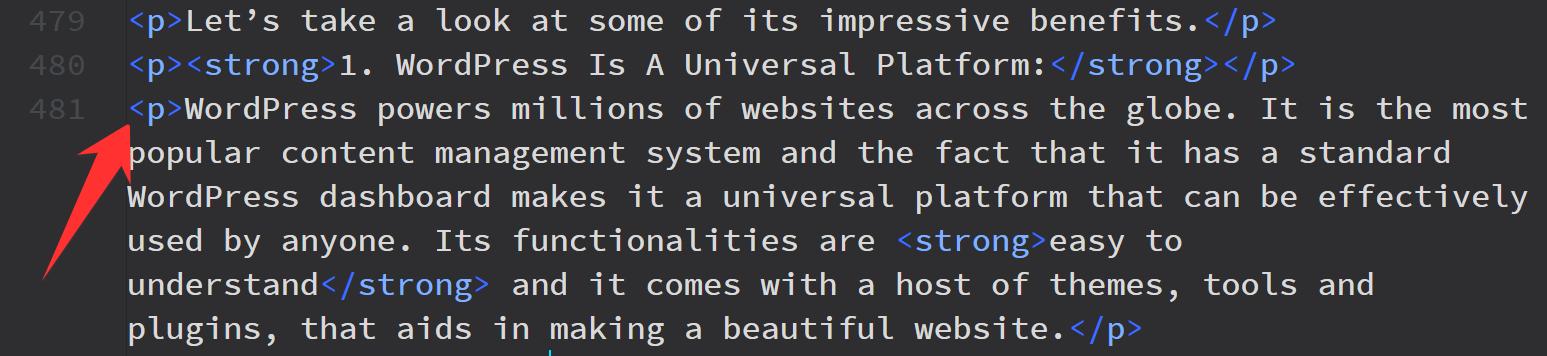 Wordpress good HTML