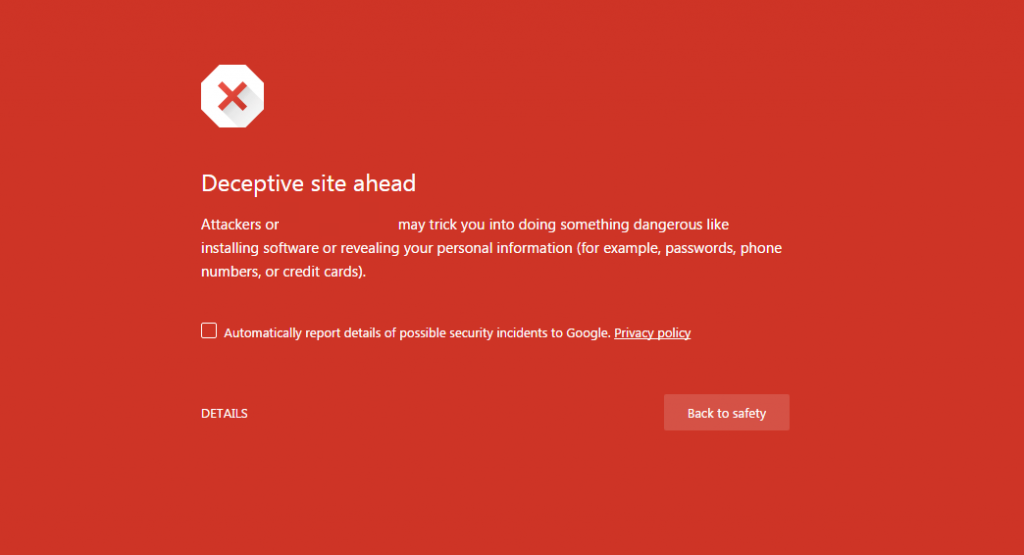 Deceptive Website Ahead Chrome Warning If Site Gets Hacked