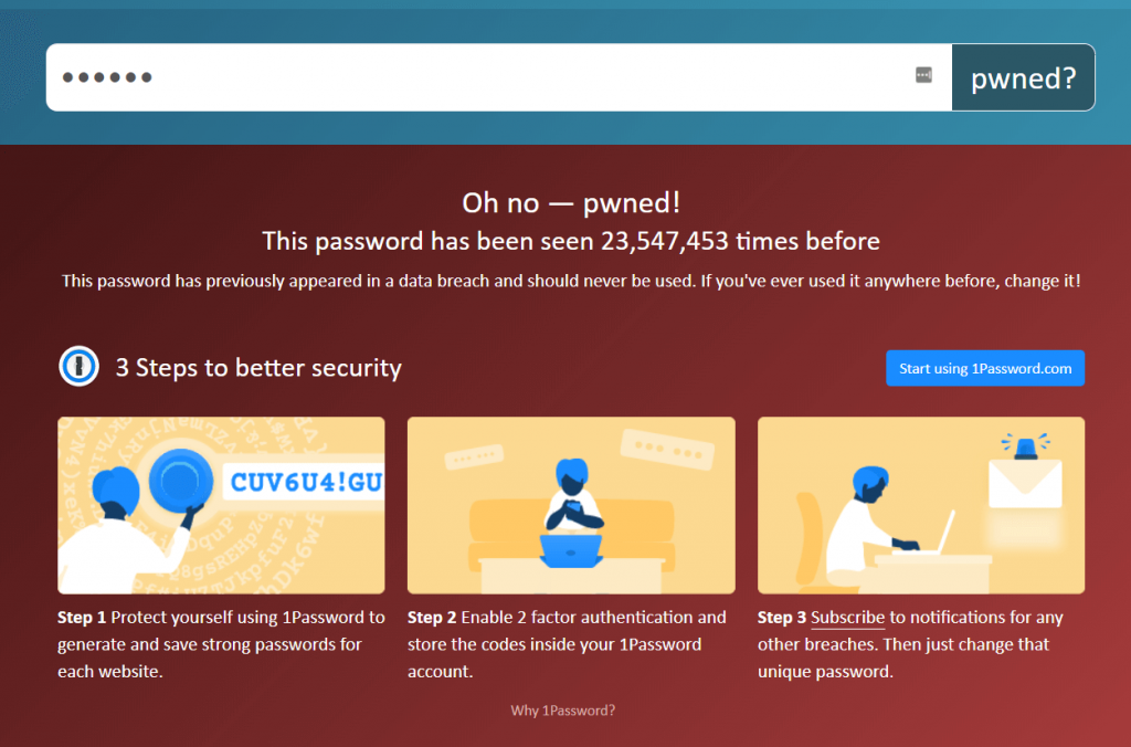 Password Pwned