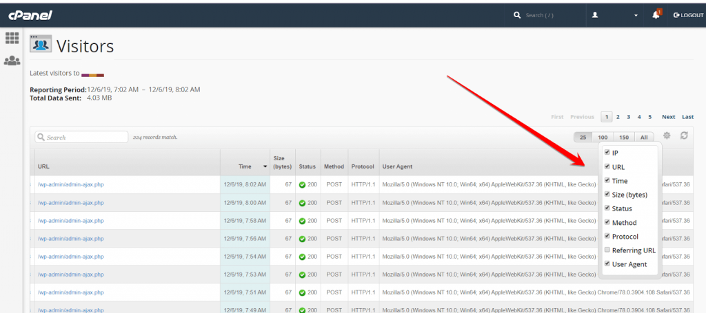 Server Logs in cPanel to Check Hacking Attempt