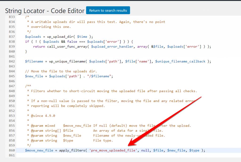 String Locator Code Editor