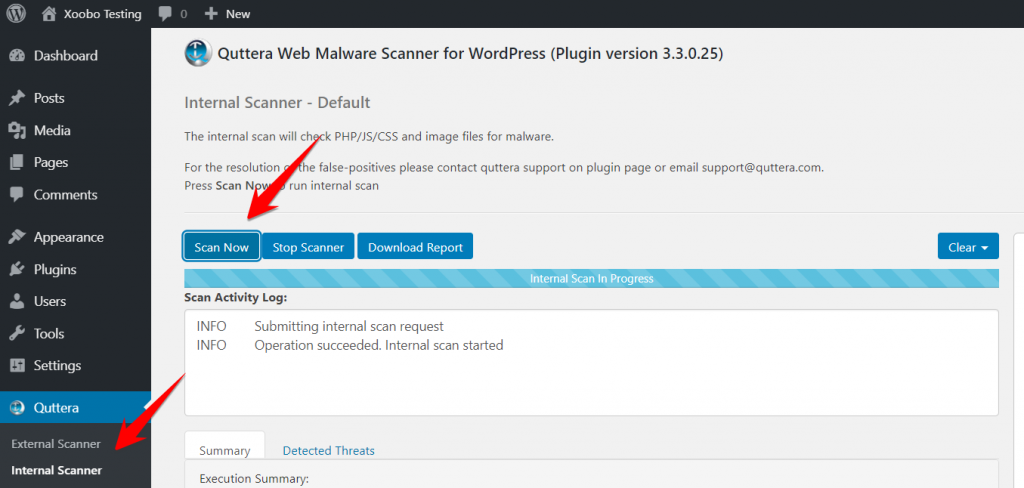 WP CMS showing the use of a specific plugin.